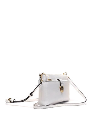 Michael Kors: cross body bags online - Hammered leather crossbody bag