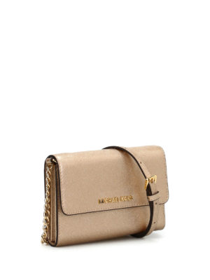 Michael Kors: cross body bags online - Jet Set Travel metallic crossbody
