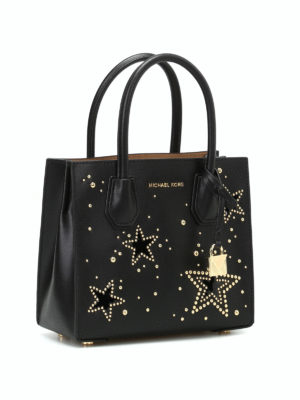 Michael Kors: cross body bags online - Mercer M bag with studded stars