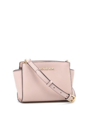 Michael Kors: cross body bags online - Selma mini soft pink messenger bag