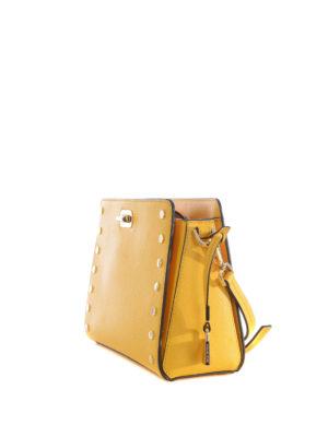 Michael Kors: cross body bags online - Sylvie studded yellow messenger bag