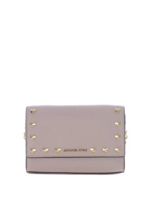 MICHAEL KORS: borse a tracolla - Tracolla Ruby rosa con cuoricini