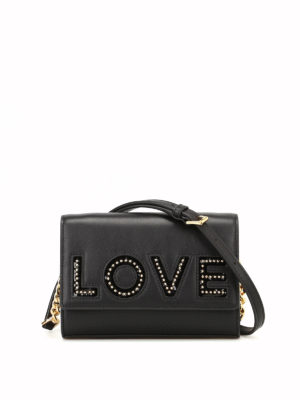 MICHAEL KORS: borse a tracolla - Tracolla Ruby Love in pelle nera