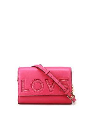MICHAEL KORS: borse a tracolla - Tracolla Ruby Love in pelle fucsia