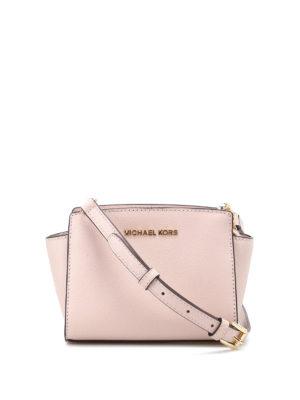 Michael Kors: cross body bags - Selma mini soft pink messenger bag