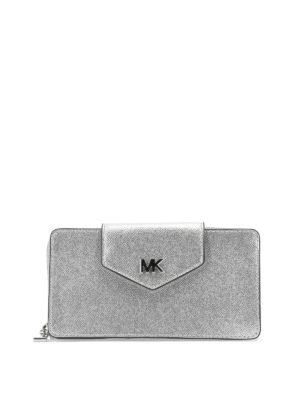 408f82b6f9 MICHAEL KORS: borse a tracolla - Borsa a tracolla in pelle argento