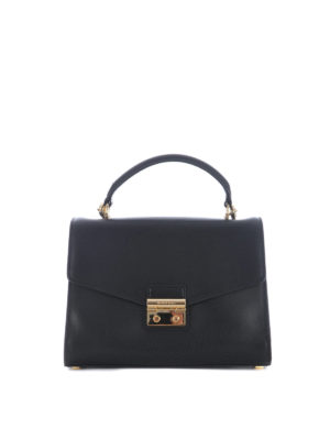 Michael Kors: cross body bags - Sloan medium black leather bag