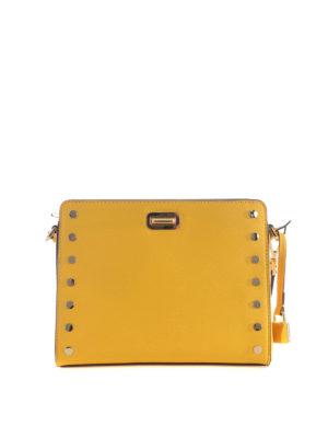 Michael Kors: cross body bags - Sylvie studded yellow messenger bag