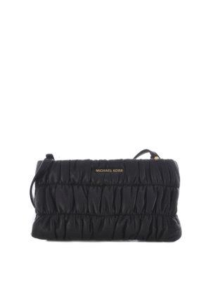 MICHAEL KORS: borse a tracolla - Pochette Webster pelle arricciata