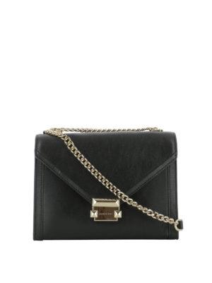 MICHAEL KORS: borse a tracolla - Elegante tracollina Whitney in pelle nera