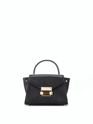 MICHAEL KORS: borse a tracolla - Mini borsa Whitney in pelle nera