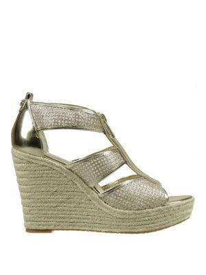 Michael Kors: espadrilles - Damita mesh wedge sandals