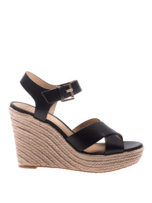 Michael Kors: espadrilles - Kady leather wedge