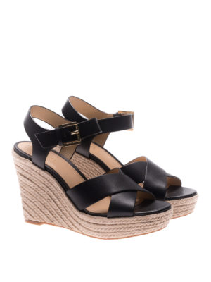 Michael Kors: espadrilles online - Kady leather wedge