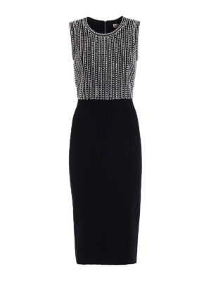 Michael Kors: evening dresses - Embellished knitted sheath dress