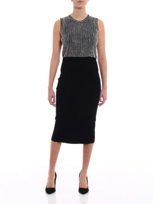 Michael Kors: evening dresses online - Embellished knitted sheath dress