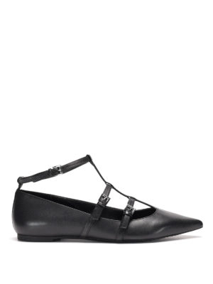 Michael Kors: flat shoes - Marta leather flat with straps