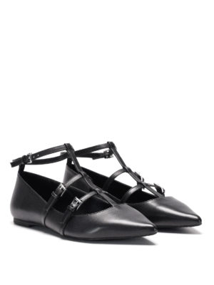Michael Kors: flat shoes online - Marta leather flat with straps
