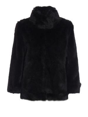 Michael Kors: Fur & Shearling Coats - Faux fur A-line short coat