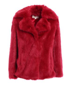 Michael Kors: Fur & Shearling Coats - Faux fur over short coat