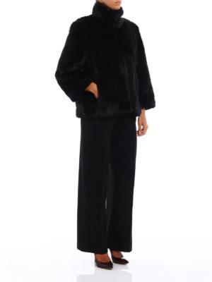 Michael Kors: Fur & Shearling Coats online - Faux fur A-line short coat