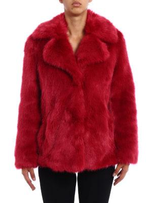 Michael Kors: Fur & Shearling Coats online - Faux fur over short coat