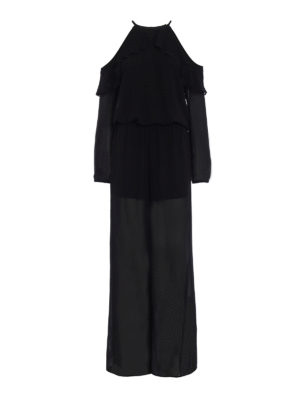 Michael Kors: jumpsuits - Crepe frilled jumpsuit