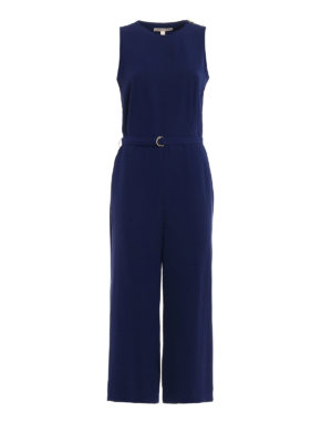Michael Kors: jumpsuits - Crepe sleeveless jumpsuit
