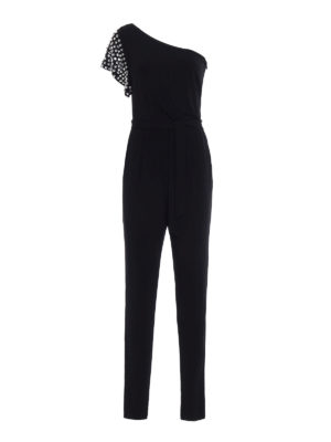 Michael Kors: jumpsuits - Embellished one shoulder jumpsuit