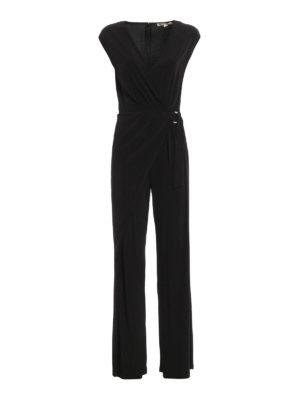 Michael Kors: jumpsuits - Jersey wrap jumpsuit
