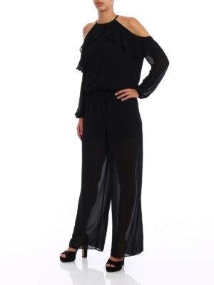Michael Kors: jumpsuits online - Crepe frilled jumpsuit