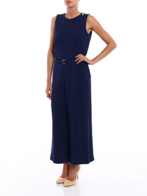 Michael Kors: jumpsuits online - Crepe sleeveless jumpsuit