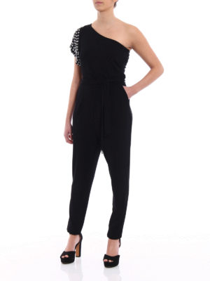 Michael Kors: jumpsuits online - Embellished one shoulder jumpsuit