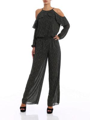 Michael Kors: jumpsuits online - Floral crepe frilled jumpsuit