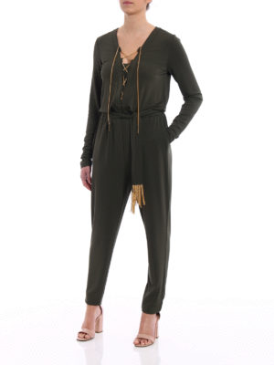 Michael Kors: jumpsuits online - Golden chain detailed jumpsuit