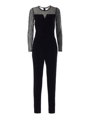 Michael Kors: jumpsuits - Tulle panelled jumpsuit