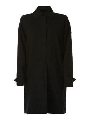 MICHAEL KORS: cappotti al ginocchio - Cappotto semplice in misto lana merino