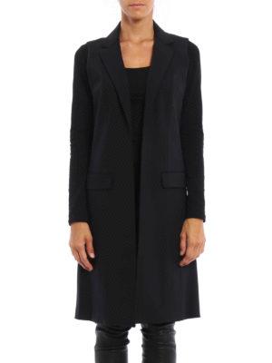 Michael Kors: knee length coats online - Wool sleeveless open coat