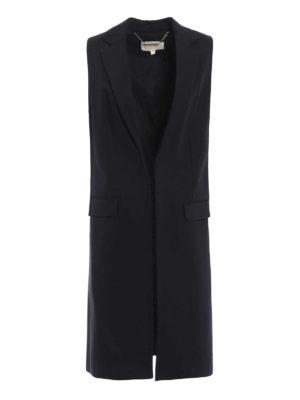 Michael Kors: knee length coats - Wool sleeveless open coat