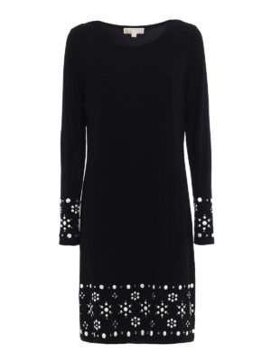 Michael Kors: knee length dresses - Embellished jersey dress