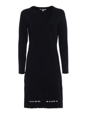 Michael Kors: knee length dresses - Jersey long sleeve dress