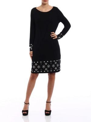 Michael Kors: knee length dresses online - Embellished jersey dress