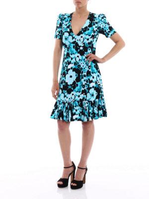Michael Kors: knee length dresses online - Floral jersey short flounced dress