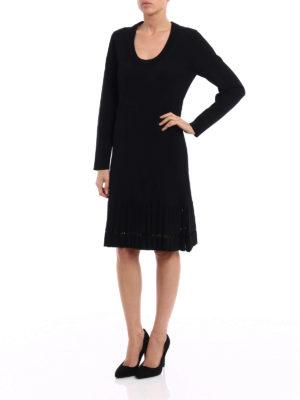 Michael Kors: knee length dresses online - Jersey long sleeve dress