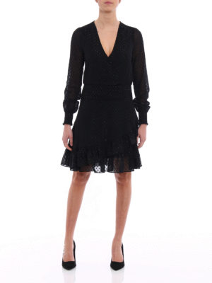 Michael Kors: knee length dresses online - Polka dot jacquard dress