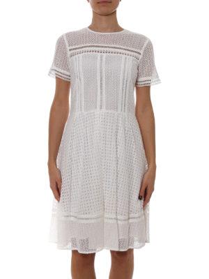 Michael Kors: knee length dresses online - See-through cotton blend dress