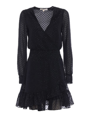 Michael Kors: knee length dresses - Polka dot jacquard dress