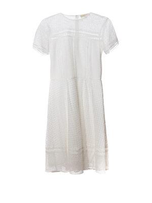 Michael Kors: knee length dresses - See-through cotton blend dress