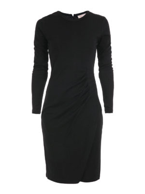 Michael Kors: knee length dresses - Wool blend draped dress