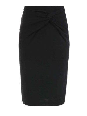 Michael Kors: Knee length skirts & Midi - Knot detailed wool blend skirt